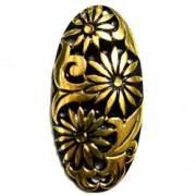 48×23 アクリルカボ 彫刻 黒金