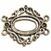 コネクター 4カン 18×11オーバル枠付 銀古美