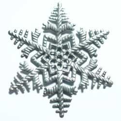 スタンピング 雪の結晶 薄型 銀