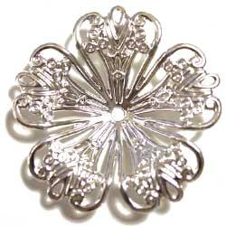 フィリグリー 5花弁 銀