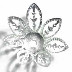 ビーズキャップ 21mm7枚花 銀
