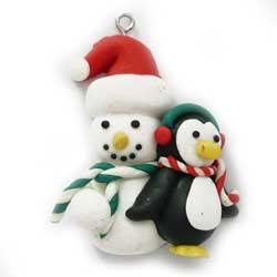 チャーム 雪だるま&ペンギン