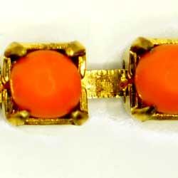 プラストーンチェーン 3.5mm オレンジ
