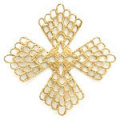 フィリグリー 薄型網目 真鍮