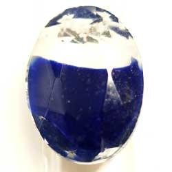 25×18 オーバル ブルー&ホワイトギブレ