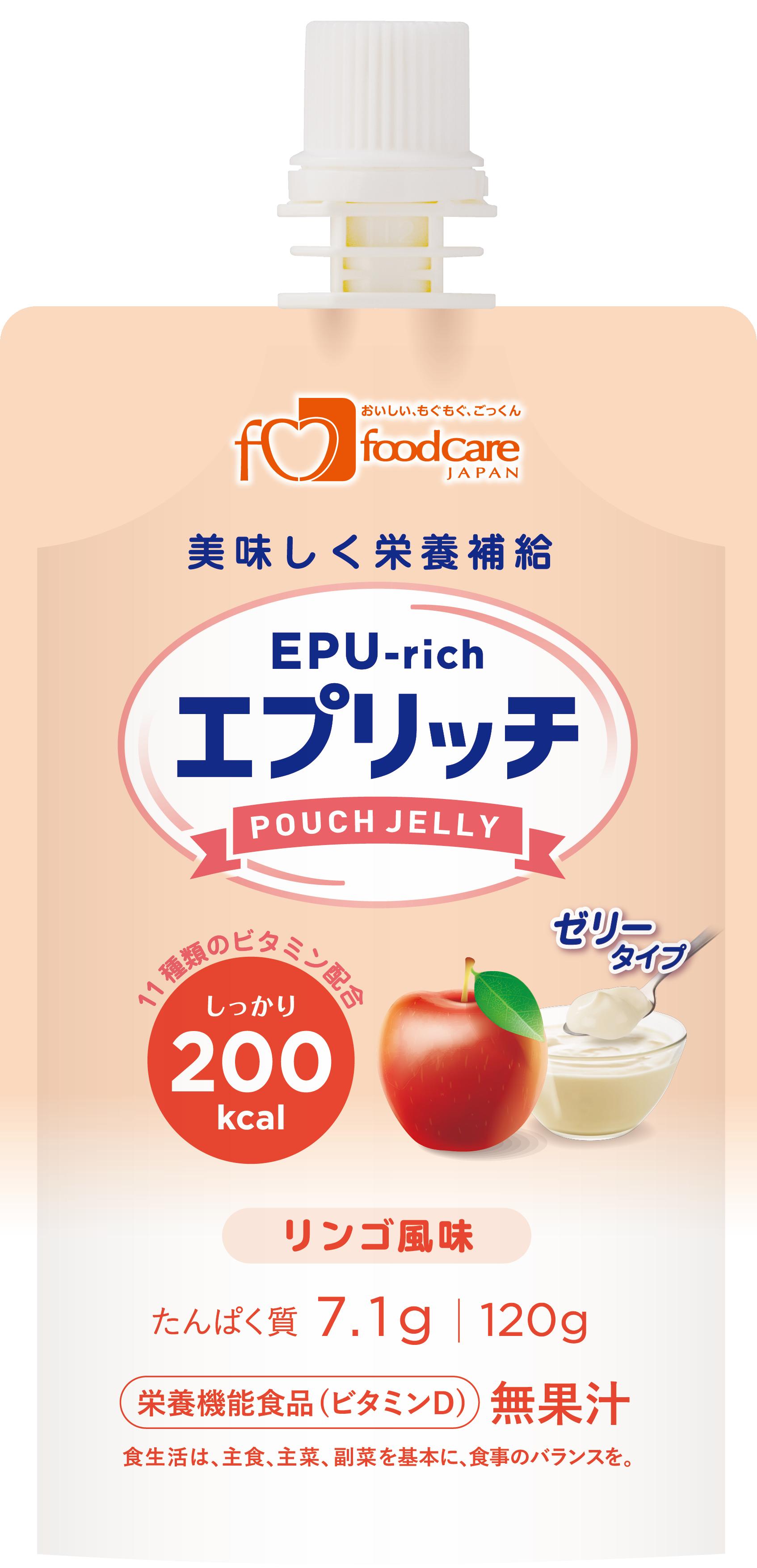 エプリッチパウチゼリー リンゴ風味 120g×36