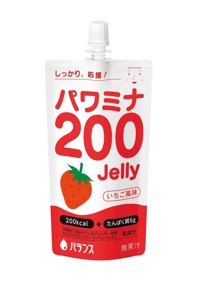 パワミナ200ゼリー イチゴ風味 120g×24