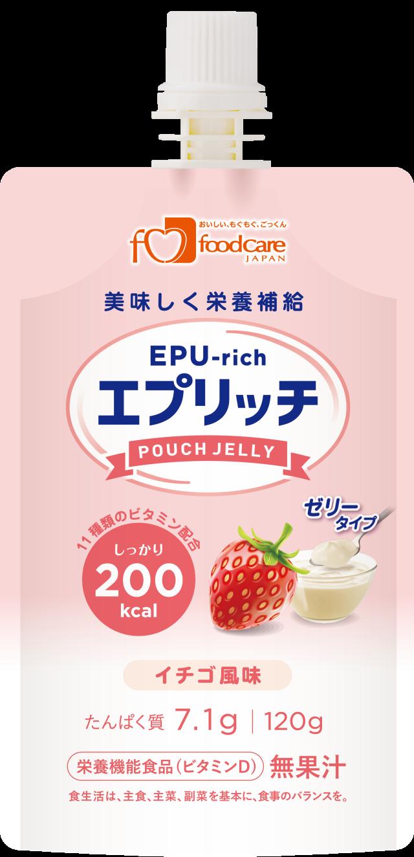 エプリッチパウチゼリー イチゴ風味 120g×36