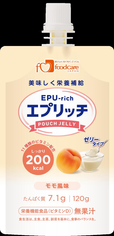 エプリッチパウチゼリー モモ風味 120g×36