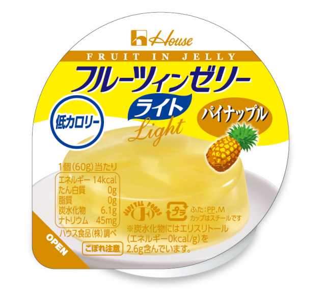 フルーツインゼリーライト  パイナップル 60g