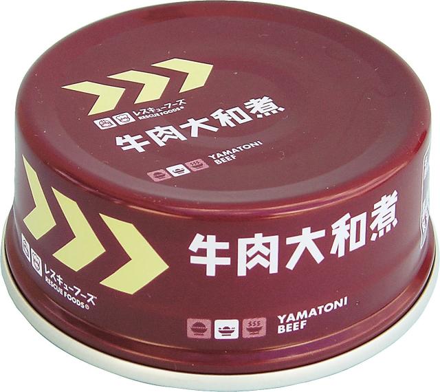 レスキュー牛肉大和煮(アルミ缶) 70g×24