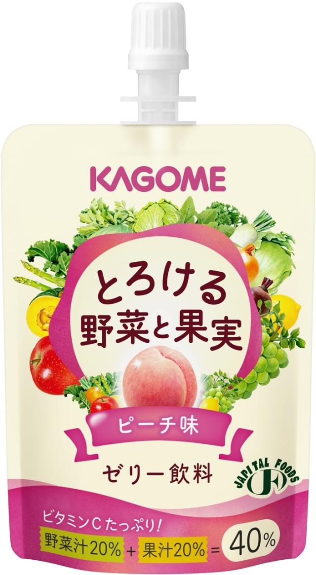 とろける野菜と果実 ゼリー飲料ピーチ味 80g×30