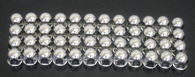特価 ステンレスナットキャップ 41mm / 高さ50mm 48個セット(大型1台分)