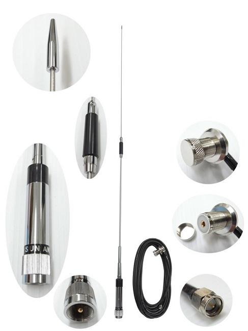 ワンセグ・フルセグアンテナ アマチュア無線タイプ(ケーブル付) 170ATV 95cm