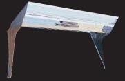 フロントバイザー UT-302C 上段テーパー奥付・蛍光灯付 【天板鏡面BA(#400番程度)・横板#800鏡面 速度灯無】