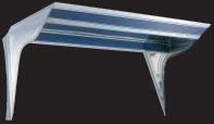 フロントバイザー UT-304A 上下段蛍光灯付 【天板鏡面BA(#400番程度)・横板#800鏡面 速度灯無】
