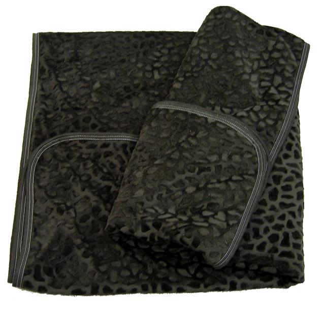 黒豹(ブラックパンサー)《黒い豹柄》 掛毛布