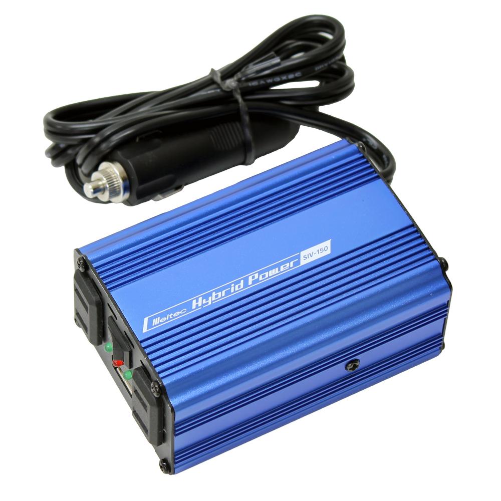 DC/AC USB&コンセント サイレントインバーター SIV-150 120W 12V(家庭用AC100V変換)
