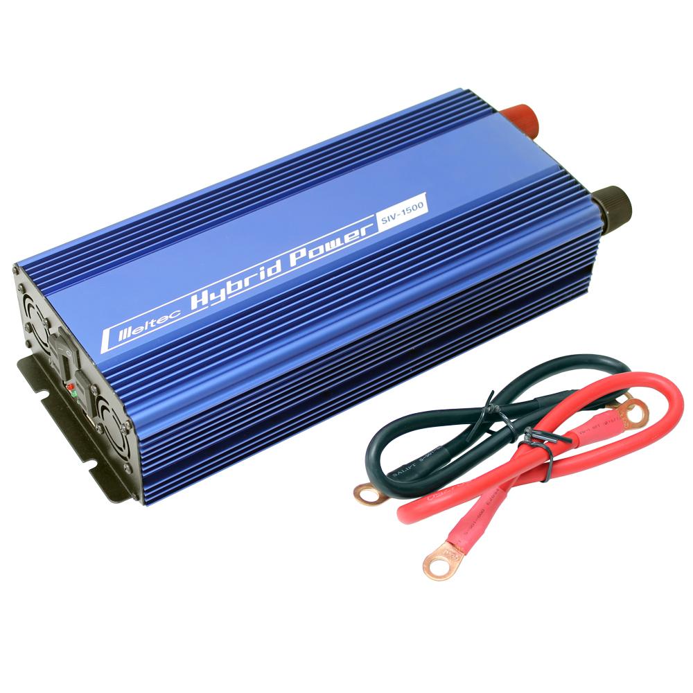 DC/AC USB&コンセント サイレントインバーター SIV-1500 1400W 12V(家庭用AC100V変換)
