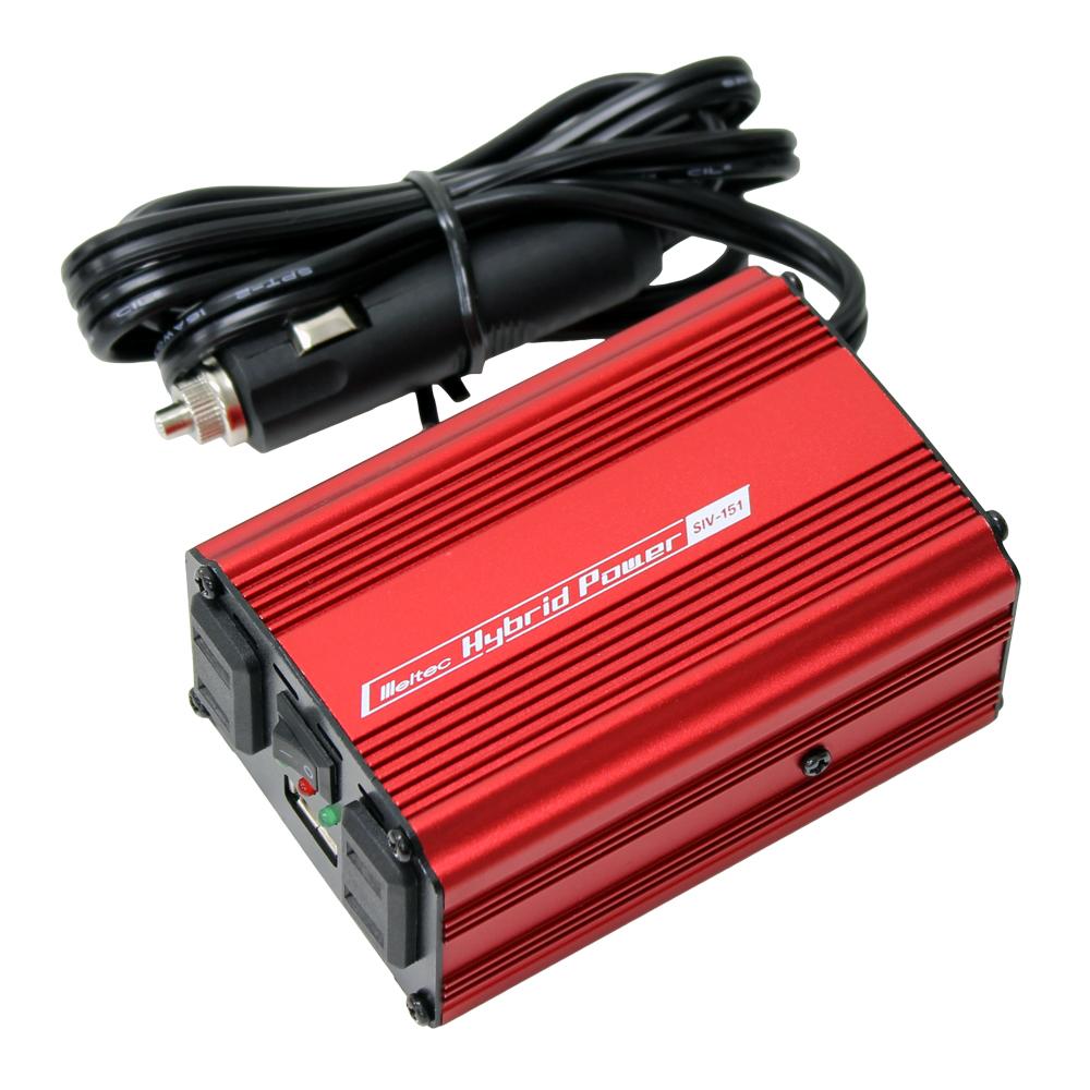 DC/AC USB&コンセント サイレントインバーター SIV-151 120W 24V(家庭用AC100V変換)