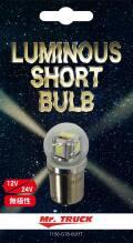 LED6 ルミナスショートバルブ(Luminous short Bulb) 【無極性】 12V/24V共用 ホワイト
