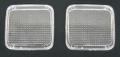 FK(KOITO製タイプ) クリアフラッシャーレンズ2枚入 (オレンジ球2個入)純正タイプテールレンズ