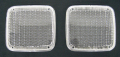 FU(ICHIKO製タイプ) クリアフラッシャーレンズ2枚入 (オレンジ球2個入)純正タイプテールレンズ