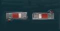 キャンター/NEWキャンター 2t標準車用 ツインテールレンズ 赤
