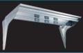 フロントバイザー UT-301A 前面2段 【天板鏡面BA(#400番程度)・横板#800鏡面 速度灯無】