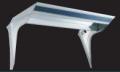 フロントバイザー UT-302A 上段蛍光灯付 【天板鏡面BA(#400番程度)・横板#800鏡面 速度灯無】