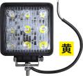 LSL-1007YE LED作業灯(ワークランプ)角型 10〜80V 27W 【イエロー】