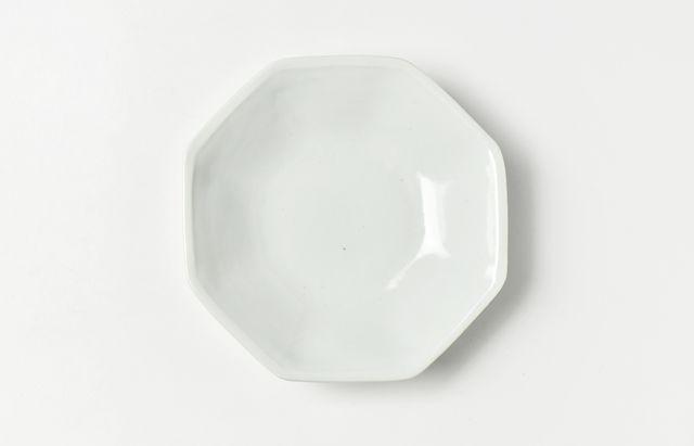 九谷青窯 白磁八角皿