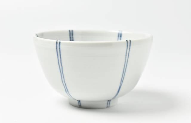 九谷青窯 飯碗 内外二本線