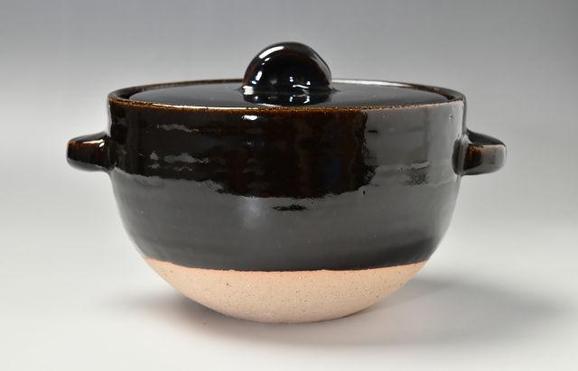 伊賀焼土楽 ごはん鍋アメ釉(大)