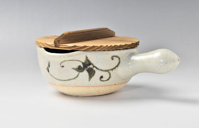 伊賀焼土楽 片手鍋(小)木蓋付