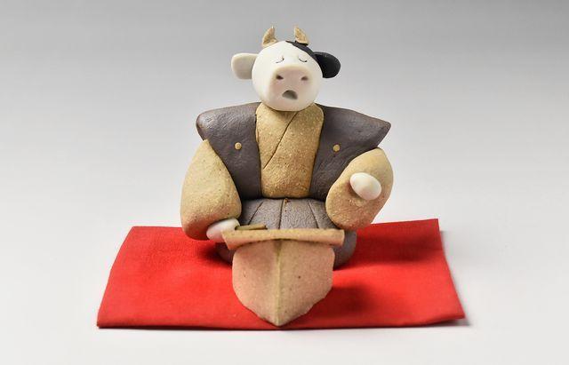 長ぶき窯 干支 丑(謡初)