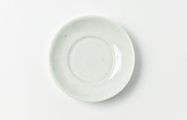 藤塚光男 味見の小皿(白磁李朝3寸皿)【H】