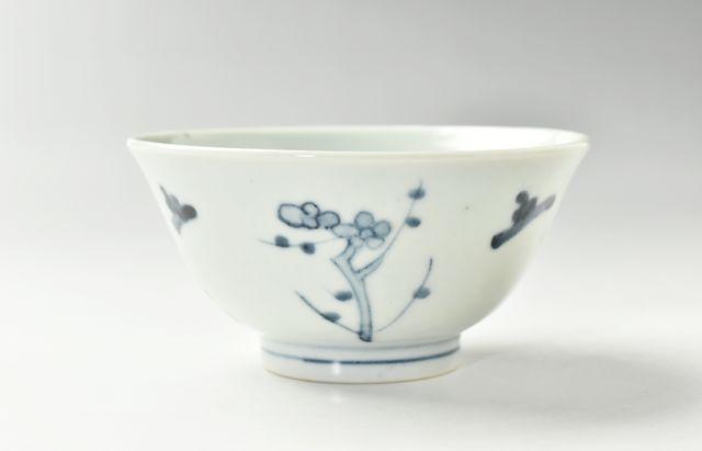 藤塚光男 ◆梅に松文飯碗 25