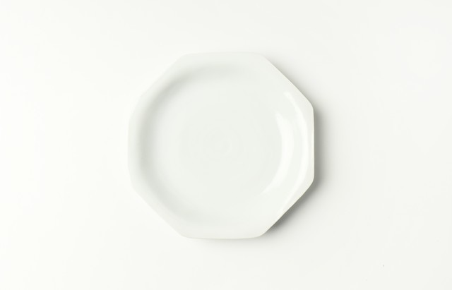 ほたる窯 白磁八角皿(小)