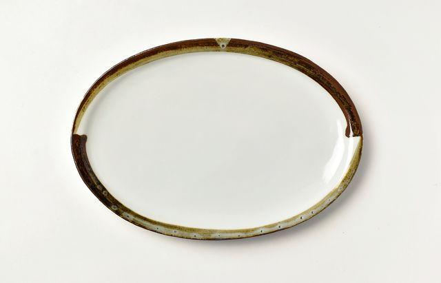 ほたる窯 渕鉄楕円皿【H】