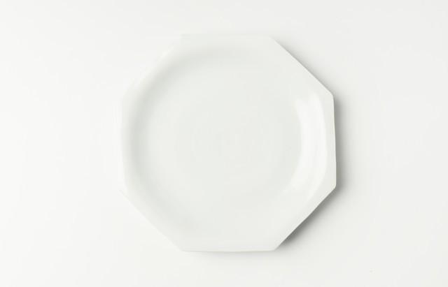 ほたる窯 白磁八角皿(大)【H】