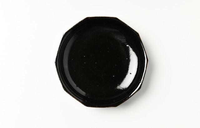 古賀雄二郎 十角深皿5寸 黒釉