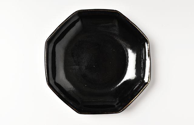 古賀雄二郎 黒釉八角深皿(大)