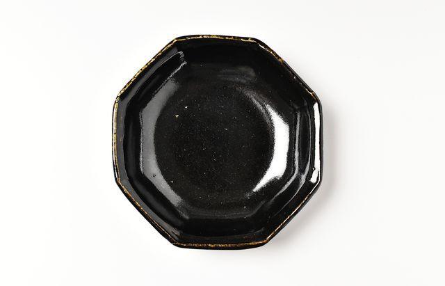 古賀雄二郎 黒釉八角深皿(小)