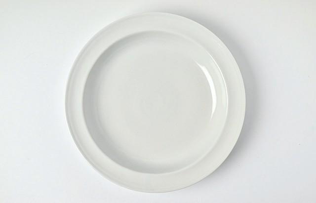 水野克俊 白磁ピューター皿(深)【H】