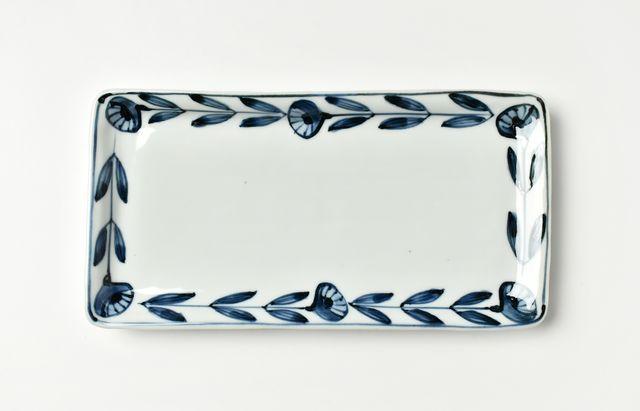 林京子 96縁花並び長角皿