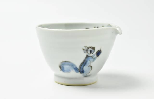 林京子 リスに葡萄片口小鉢