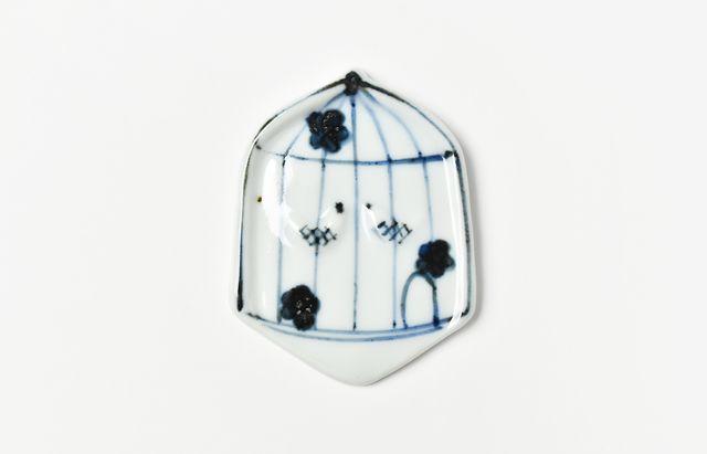 林京子 スプーンレスト 鳥籠(染付)