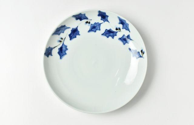 林京子 季節変り6.5寸皿 柊