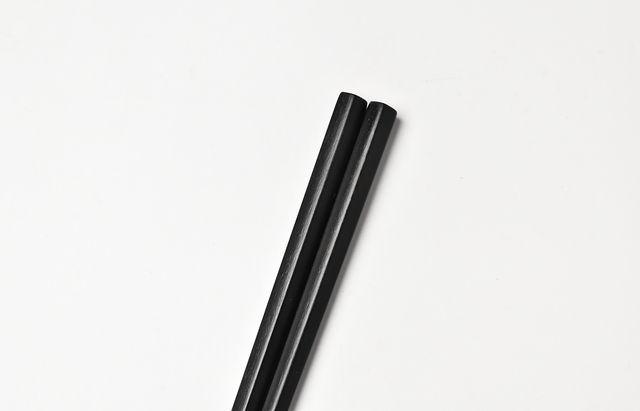 石川漆宝堂 五角箸(黒)